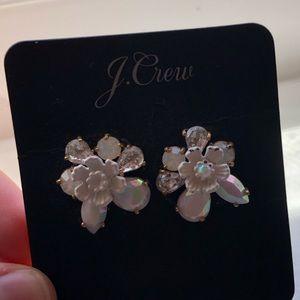 J. Crew White Flower Earrings